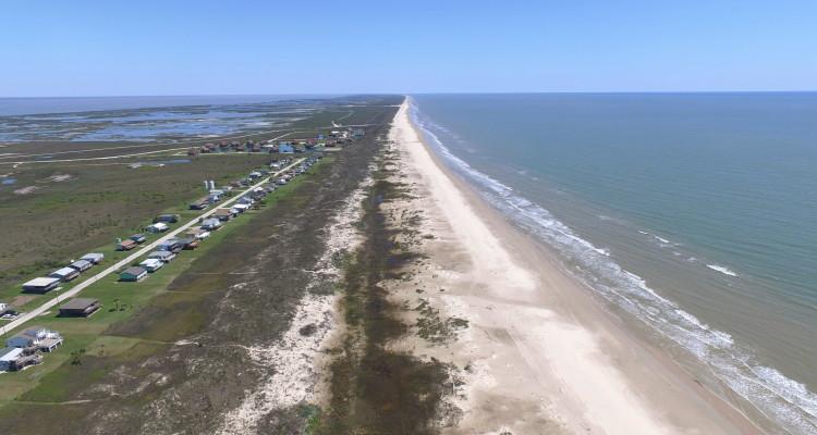 Matagorda Beach and Houses aerial photo